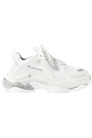 Balenciaga Women Sneakers - Triple S logo-embroidered leather, nubuck and mesh sneakers
