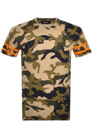 Dsquared2 Short Sleeved Camouflage T Shirt Khaki