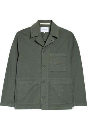 Norse projects Men's Gm X Np Mads Back Satin Cotton Chore Jacket