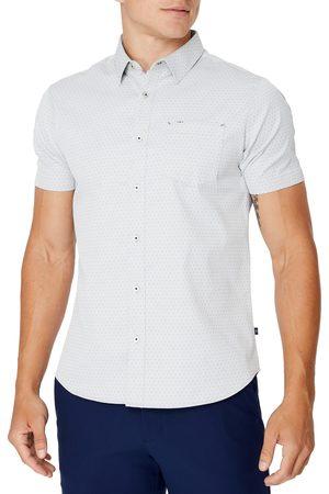7 Diamonds Men's Staycation Trim Fit Stretch Short Sleeve Button-Up Shirt