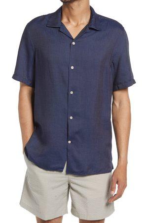 NN.07 Men's Miyagi 5169 Stripe Short Sleeve Button-Up Camp Shirt