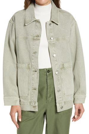 Madewell Women's Garment-Dyed Denim Patch Pocket Trucker Jacket
