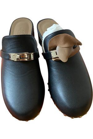 Hermès Carlotta leather mules & clogs