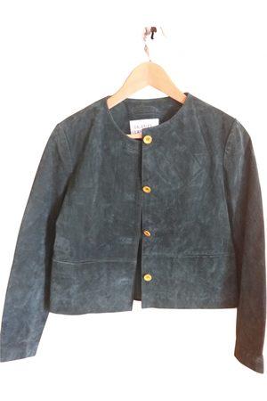 Galeries Lafayette Leather short vest