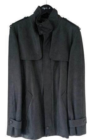 AGNÈS B. Leather trenchcoat