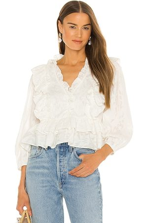 Something Navy Audrey Ruffle Top in .