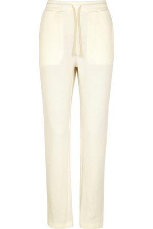American Vintage Women Sweatpants - Pablito ribbed cotton-blend sweatpants