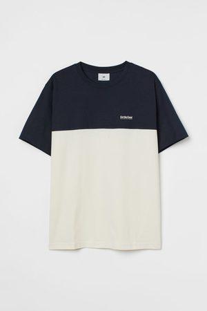 H&M Men T-shirts - Color-block T-shirt