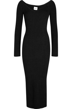Khaite Women Knitted Dresses - Pia ribbed-knit midi dress