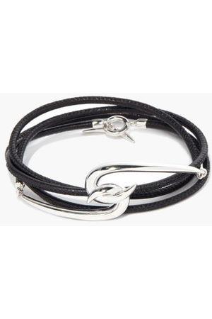 SHAUN LEANE Hook Sterling- & Leather Wraparound Bracelet - Mens