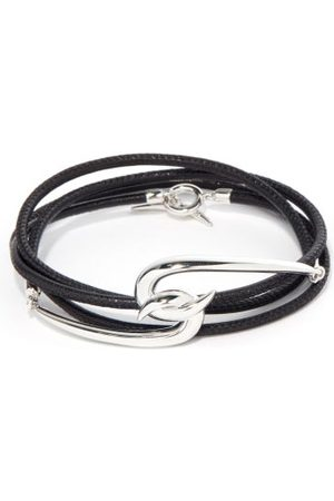 SHAUN LEANE Men Bracelets - Hook Sterling- & Leather Wraparound Bracelet - Mens