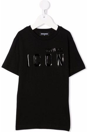 Dsquared2 Boys Short Sleeve - Logo-print short-sleeved T-shirt