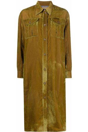 Alberta Ferretti Corduroy button-down coat