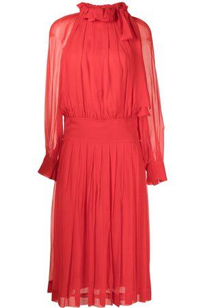 Victoria Beckham Women Midi Dresses - Pleated silk midi dress
