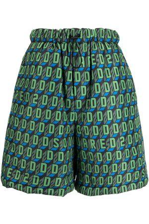Dsquared2 Men Shorts - D2-pattern deck shorts
