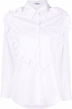 VIVETTA Women Shirts - Ruffle-detail cotton shirt