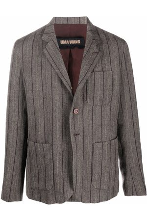 UMA WANG Striped print blazer - Grey