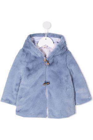 Lapin House Coats - Reversible faux-fur hooded coat