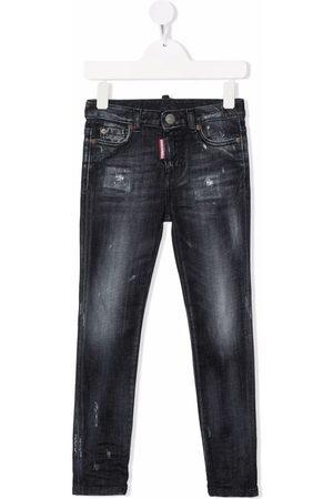 Dsquared2 Girls Slim - Distressed slim-cut jeans