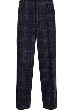 Kolor Men Chinos - Plaid-check print trousers