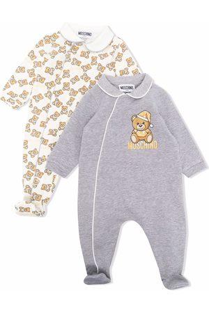 Moschino Pajamas - Teddy Bear motif 2 pack pyjamas - Grey
