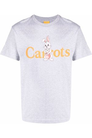 Carrots Men Short Sleeve - Logo-print short-sleeved T-shirt - Grey