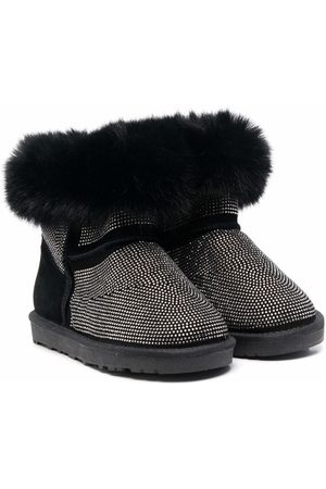 MONNALISA Ankle Boots - TEEN faux-fur trimmed ankle boots