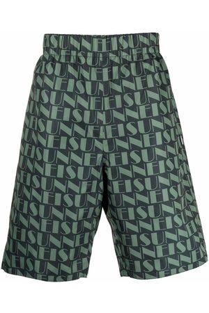 SUNNEI Men Bermudas - Logo-print reversible shorts