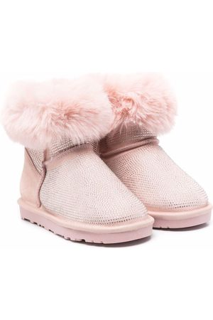 MONNALISA TEEN faux-fur trimmed ankle boots