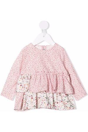 Il gufo Floral-print ruffled blouse