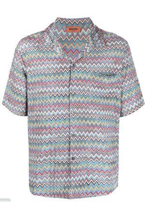 Missoni Zigzag-Print Short-Sleeve Shirt