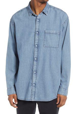 BP. Men's Denim Button-Up Shirt