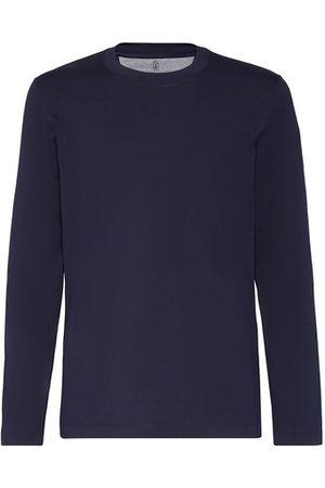 Brunello Cucinelli Men Long Sleeve - Cotton T-shirt