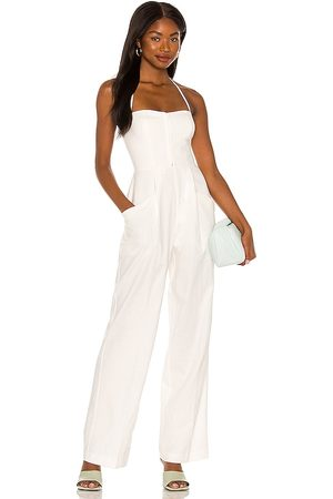 L'Academie Gianna Jumpsuit in Ivory.