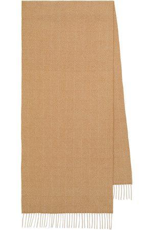 Loro Piana Turati herringbone cashmere scarf