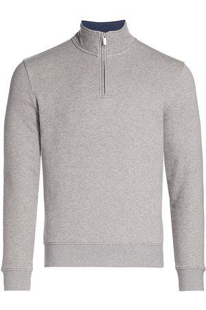 Saks Fifth Avenue MODERN Hookup Quarter-Zip Sweatshirt