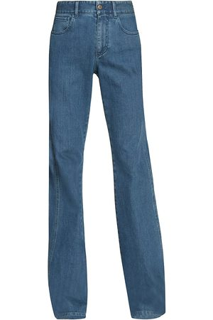 Chloé Flared High-Waisted Stretch Denim Jeans