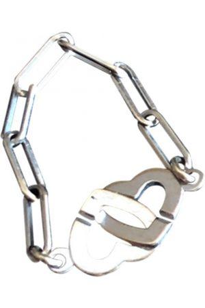 DINH VAN Double Coeur white gold bracelet