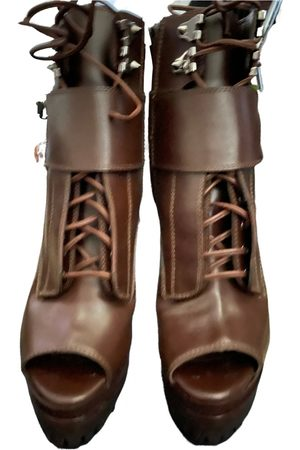 Sergio Rossi Women Ankle Boots - Leather buckled boots