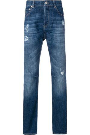 Brunello Cucinelli Men Straight - Distressed straight leg jeans