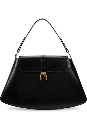 By Far Women Purses - Portia glossed leather top handle bag
