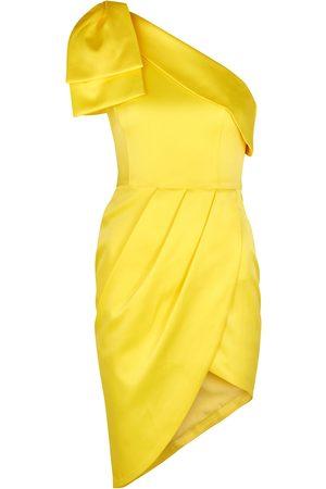 Lavish Alice Bow-embellished satin mini dress