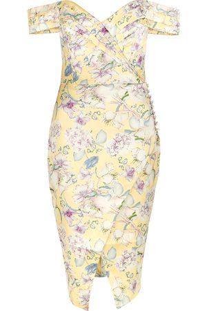 Lavish Alice Women Printed Dresses - Floral-print satin midi dress
