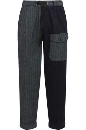 Whitesand 88 Men Pants - Denim Patchwork Pants