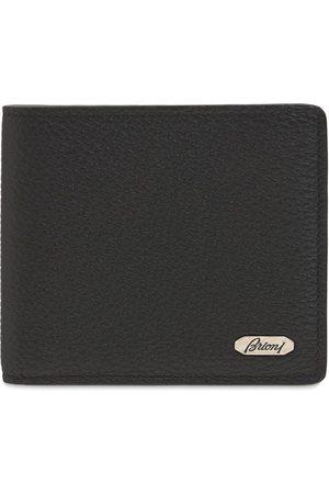 BRIONI Metal Logo Leather Wallet