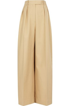 Khaite Women Belts - Teyana sand cotton trousers