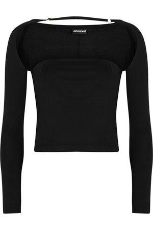 Jacquemus Women Tops - Le T-Shirt Lucciu cut-out jersey top