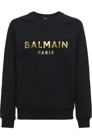 Balmain Men Sweatshirts - Logo Cotton Jersey Sweatshirt
