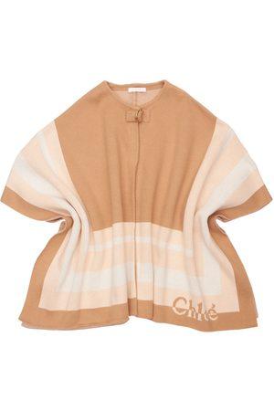 Chloé Cotton & Wool Knit Cape