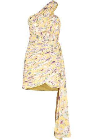 Lavish Alice Floral-print plissé mini dress